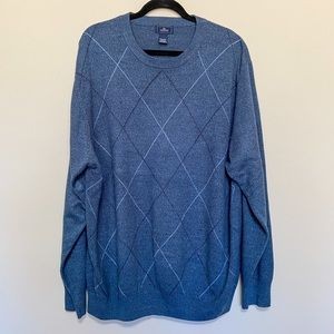 Dockers Men's Lightweight Sweater Blue Size 2XLT